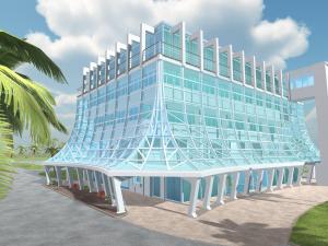 3D model of Glass Bank