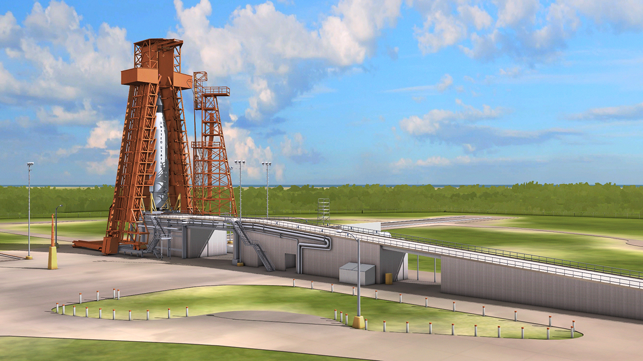 Shadows of Canaveral Launch Complex 14 Render