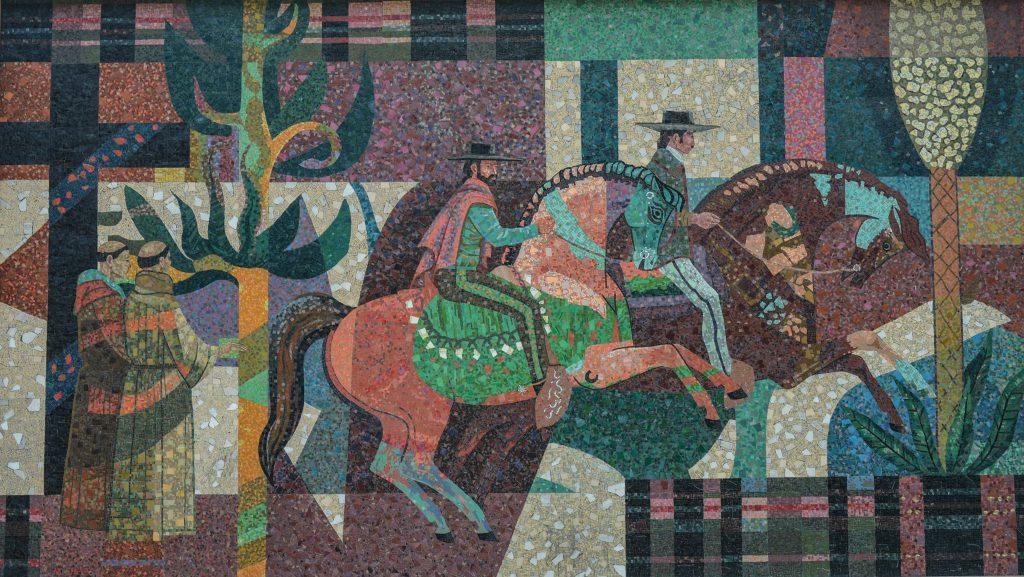Laser Scan Milton Sheets mosaic at former Home Savings and Loan, La Mesa, CA