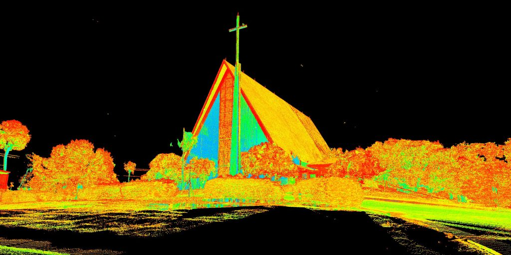 Exterior Intensity Scan of First United Methodist Church of Cocoa Beach