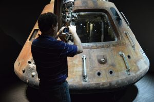 Rob and the Apollo 14 Capsule