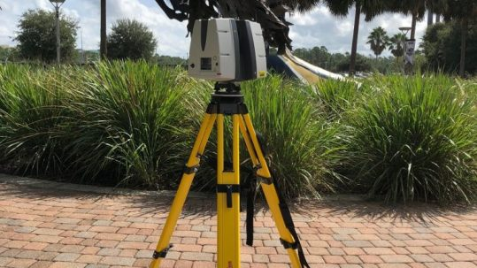 Capturing UCF Knight by stadium with Leica ScanStation P40