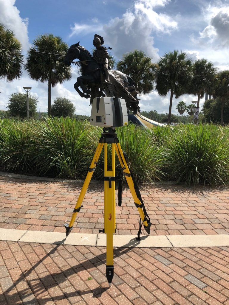 Capturing UCF Knight by the stadium with Leica ScanStation P40