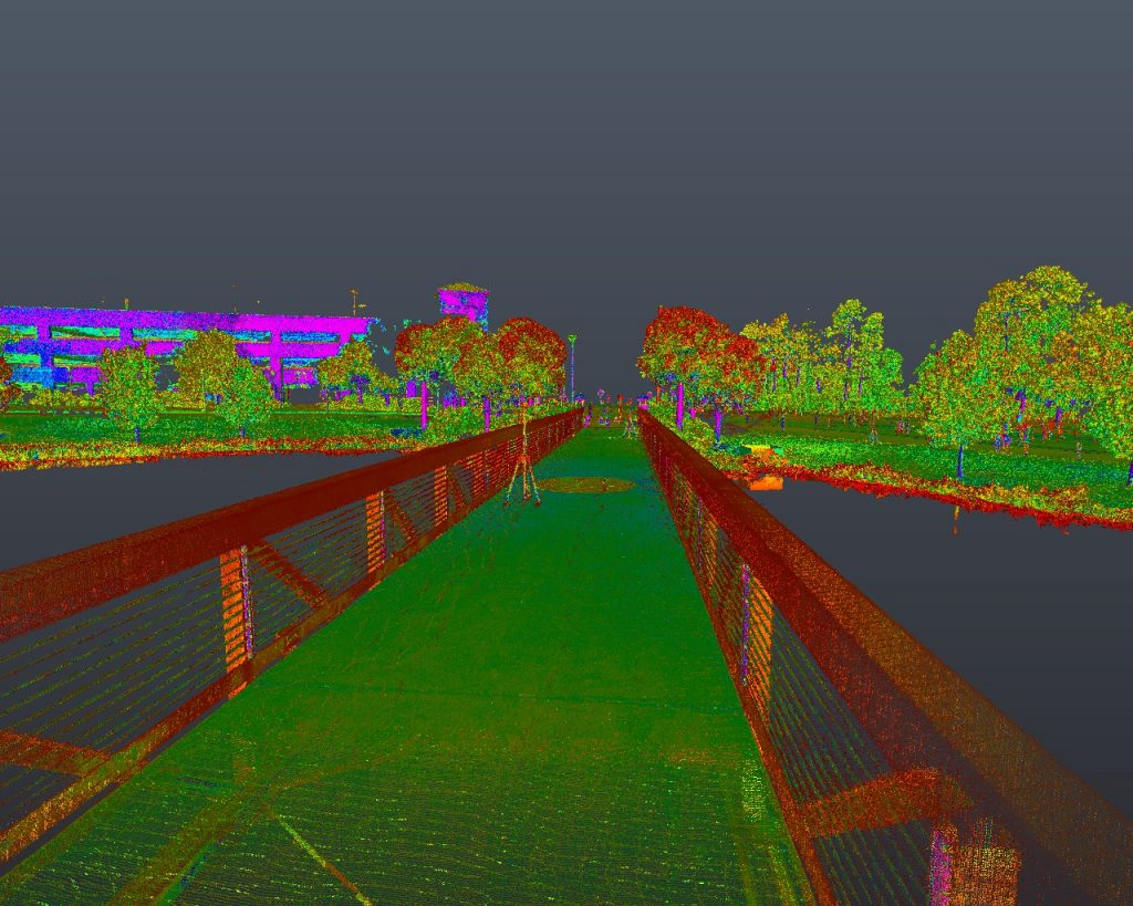 Pedestrian Bridge - Intensity Scan