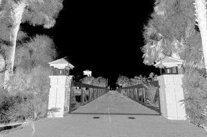 Pedestrian Bridge Entrance