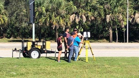 Completing a scanning project with UCF Engineering students.