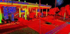 Intensity scan of the former Cape Canaveral National Bank
