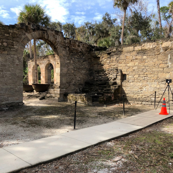 Scanning the Sugar Mill Ruins in New Smyrna