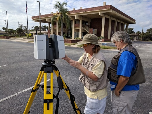 ChronoPoints team members Walters & Adams with Leica P40 scanner.
