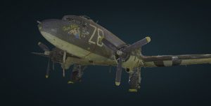 Point Cloud C-47 Nose