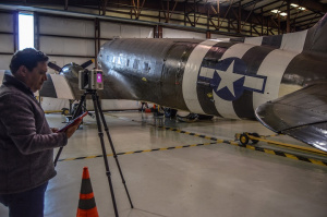 Rob Michlowitz scanning C-47