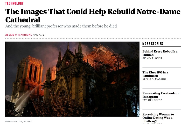 Atlantic article about Notre Dame laser scanning
