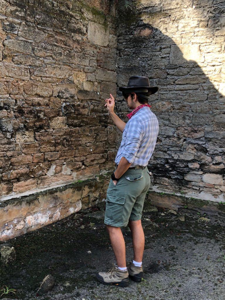 Dr. Kider testing DATCH at the New Smyrna Sugar Mill Ruins