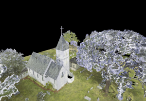 Laser scan capture of St. Luke's Church exterior
