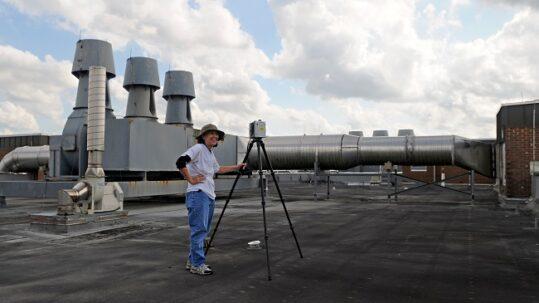 Scanning Biological Sciences Roof