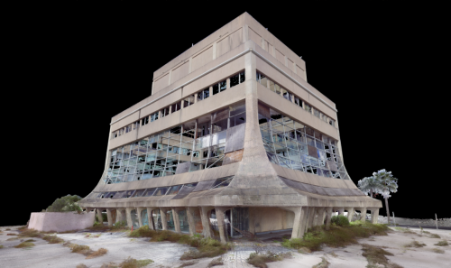 Point cloud representation of the Glass Bank - version 2