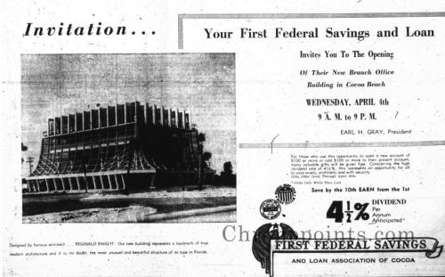 Opening announcement advertisement in the Cocoa Tribune