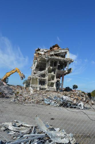 East view of demolition