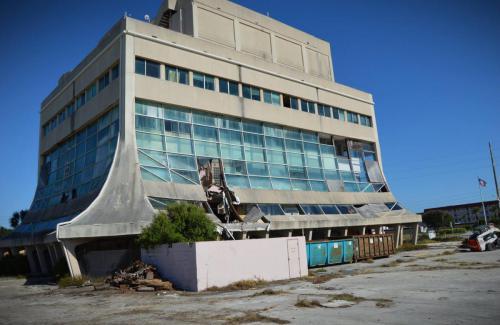 Southern elevation in December 2014 just prior to demolition.
